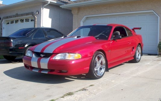 Check Out This Rio Red 1996 Mustang Gt Coupe Owned By Ken Kavanaugh From Edmonton Alberta Canada It Has A 4 6l V8 Engine And Manual Transmission